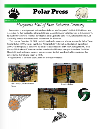 New Edition of Margaretta Polar Press School Newspaper